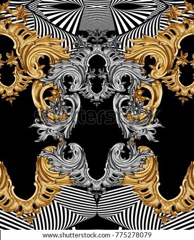 golden baroque ornament #775278079