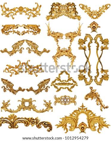 golden baroque set #1012954279
