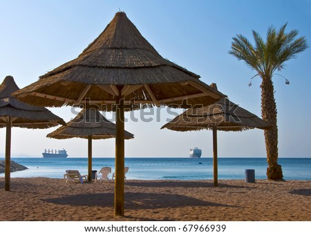Golden beach on the Red Sea