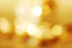 golden bokeh background close up