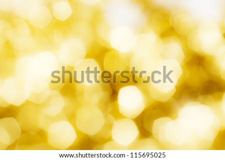 Golden bokeh of christmas