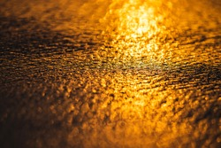 Golden bokeh of life. The interplay of the bokeh with the light from the sun.