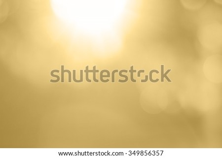 golden bokeh with perfect sunlight #349856357