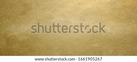 Golden brass textured horizontal background Foto d'archivio ©