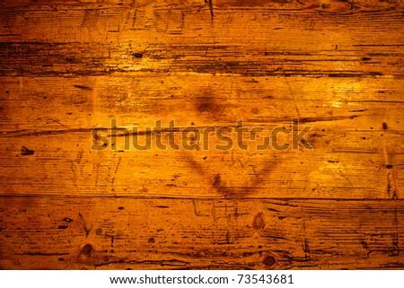 Golden brown wooden texture