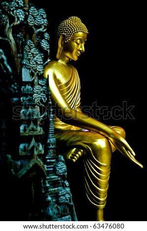 Golden Buddha Image - stock photo