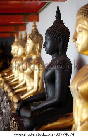 Golden Buddha in Wat Pho, Thailand