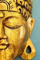 Golden Buddha's Head Mask