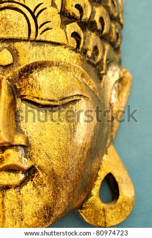 Golden Buddha's Head Mask