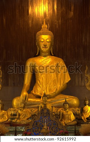Golden Buddha Statue At Doi Suthep Temple, Chiang mai - Thailand