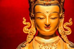 Golden Buddha statue from Tibet