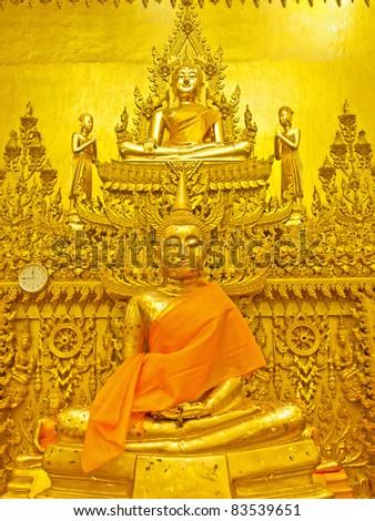 Golden Buddha Statue of Thailand - stock photo