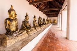 Golden Buddha, Wat Phra Borommathat Chaiya Ratchaworawihan Thailand.