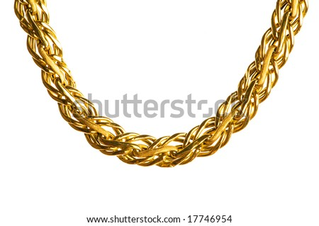 Golden Chain Isolated On The White Background Stock Photo 17746954 ...