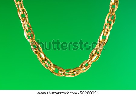 Golden Chain Isolated On The White Background Stock Photo 50280091 ...