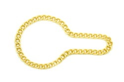 Golden chain Isolated on white