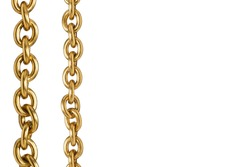 Golden chain isolated on white background.