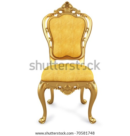 golden chair with yellow skin