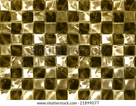 Golden chessboard background