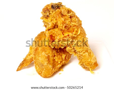 golden chicken wing and leg