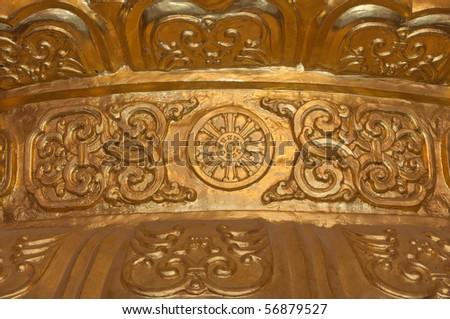 Golden Chinese Pattern, logo - stock photo