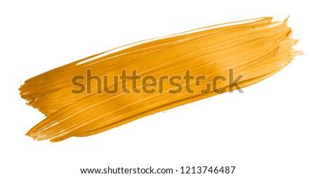Golden christmas brush stroke paint over isolated background #1213746487