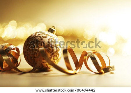 golden christmas card holiday background