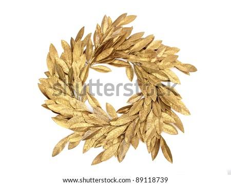 golden christmas crown over white