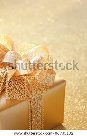 Golden christmas gift