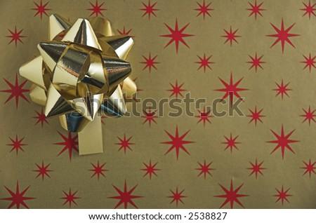 Golden Christmas gift background