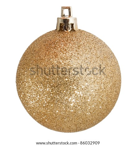 Golden christmas gold on white background
