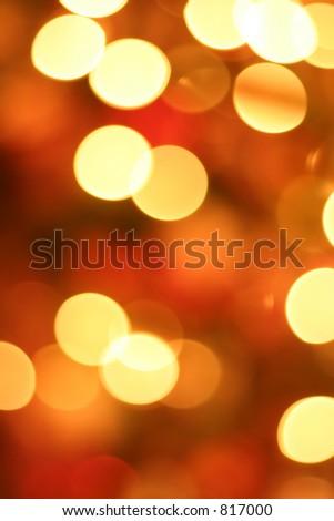 Golden Christmas light blur - stock photo