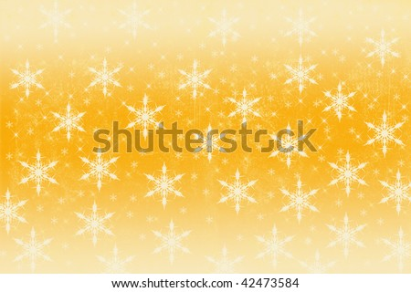 Golden Christmas snowflake background.