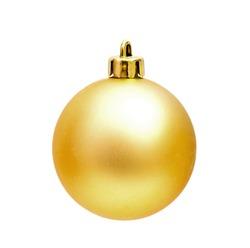 Golden Christmas sphere on the white