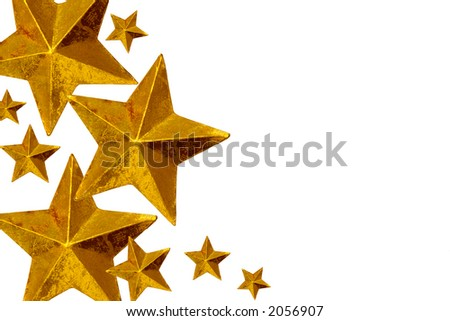 Golden Christmas stars.