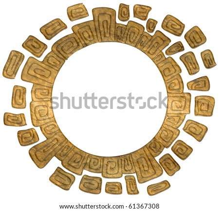 golden circle frame isolated