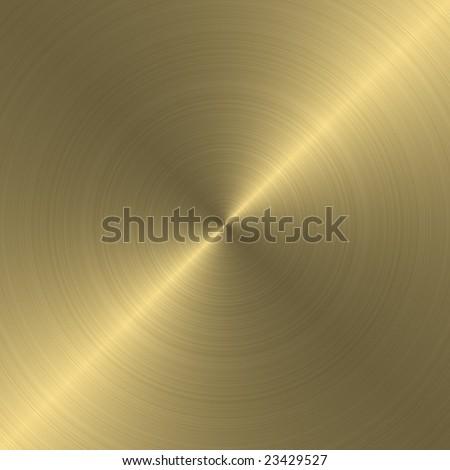 golden circular plate
