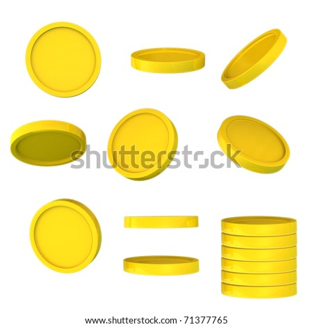 Golden coins from a different angle