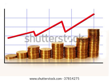 golden coins with graph