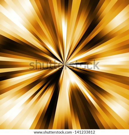 Golden colors explsion abstract.