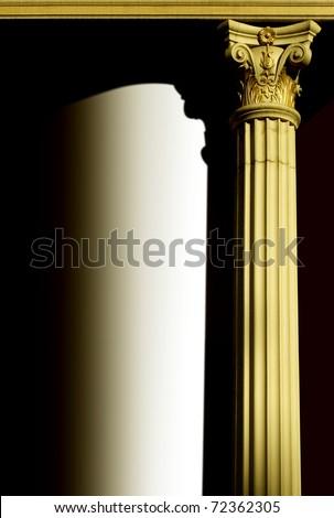 golden column, pillar