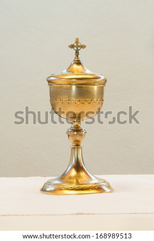 golden communion cup #168989513