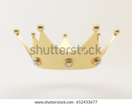 Golden Crown Award prize 3D rendering