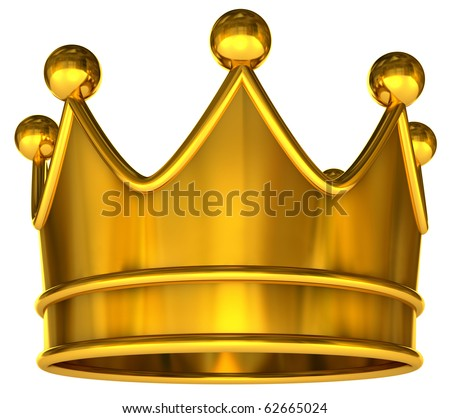 Golden Crown Golden crown isolated on a white background