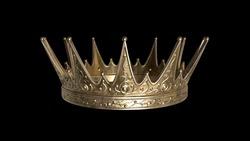 Golden crown with dark background