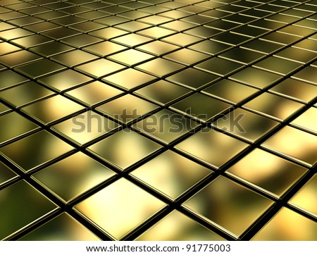 Golden cubes background - stock photo