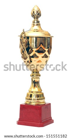golden cup isolated on white #151551182