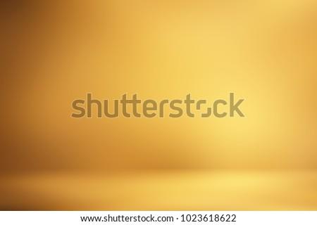 Golden 3d room. Background