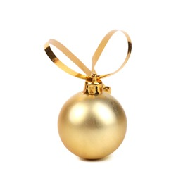 Golden decorativ christmas ball.