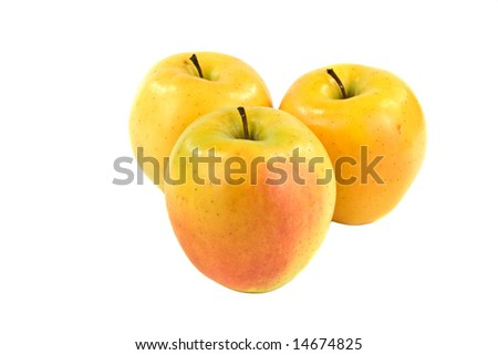 Golden Delicious Apples - stock photo